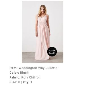 Blush Weddington Way Bridesmaid dress